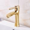 Newly Arrival Bathroom Sink Faucet Golden Polish Sink Faucet Mixer Tap Brass Tap