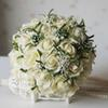 Popular 2019 Wedding Bouquets For Bride Silk Hand Holding Flowers Handmade Wedding Bridal Bouquet Accessories White Rose