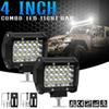 4 Inch 72W 7200LM LED Work Light Waterproof IP68 Durable Modified Auto Car Top Bar Light Lamps 12V Light Bars for Off-road Car