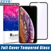 ZZYD For iPXr Xs 6.1 6.5 inch Full Cover Tempered Glass 3D 9H Cover Purple Ray Explosion-proof HD Screen Protector