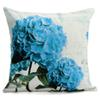 HOT SALE Teal Hydrangea Throw Pillow Case pillow Cover Home 18x18 inch