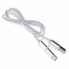 Universal 1M Knitting Wire Micro USB Data Sync Charging Cable+Type C Converter
