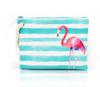 3pcs 2018 Women Canvas Watermelon Fruit Patten Flap Stripes Beach Bags 5colors Ladies Zipper Cosmetic Bags
