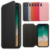 Luxury Original Leather Folio Wallet Case Official Flip Smart With Card Slot Auto Sleep Function Cover for iPhone X with Retail Package
