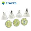 E27 E14 MR16 GU10 Lampada LED Bulb 220V 240V Bombillas LED Lamp Spotlight 48 60 80 LED 2835 SMD Lampara Spot Cfl