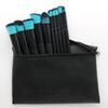 Stock HB Professional makeup brushes 10 Pieces makeup brush set+ leather Pouch DHL Free shipping