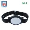 10pcs RFID nylon wristband samples for test(7pcs T5577+3pcs F08 chip) color black style NL4