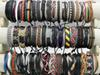 New Stylish Handmade Leather Braid Hemp Bracelets Unisex Leather Wristband Bracelet Jewelry Xmas Gifts Factory Wholesale Mix Styles