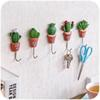 Cactus Wall Hook Lovely Creative Plant Bathroom Towel Holders Waterproof Hanger Kitchen Goods Clothes Tie Organizer Hooks On The Wall