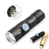 USB Rechargeable Ultra Bright Waterproof LED Torch Zoomable Flashlight Lamp Set Built-in Battery High Powerful and Portable
