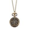Vintage Pocket Watch Bronze Color Quartz Watch Cool Chain Coin Modeling Watches LXH