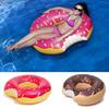 1 Piece 48 Inch Gigantic Donut Swimming Float Inflatable Swimming Ring 2 Colors (Strawberry and Chocolate) Best Summer Water Toys