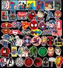 50Pcs Lot Marvel Anime Classic Stickers Toy For Laptop Skateboard Luggage Decal Decor Funny Iron Man Spiderman Stickers For Kids Car sticker