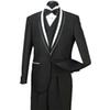 2018 In Stock Mens Formal Wedding Suits Groom Groomsmen Tuexdos Business Wear Shawl Lapel 3 Pieces (Jacket+Vest+Pants) ST007