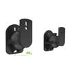 2pcs Black Surround Sound Speaker Wall Mount Brackets 45 Degree Rotatable Design TV Wall Mount 8 x 4.5 x 5.8cm Mayitr
