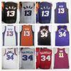 Wholesale Mens 13 Steve Nash Jerseys Cheap Vintage Sports Black Yellow  Purple White 34 Charles Barkley Basketball Jersey Mix Orders b595ec8b0