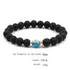 10 colors Natural Black Lava Stone Beads Elastic Bracelet Essential Oil Diffuser Bracelet Volcanic Rock Beaded Hand Strings