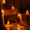Halloween christmas decoration LED strip Pumpkin shape LED string warm white Battery operated Free shipping by DHL