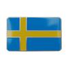3D Aluminium Pole Bright Emblem Sweden Flag Car Sticker Badge Decals for Volvo V40 V50 V70 S80 XC60 S60 V60 XC90 S40 XC70