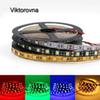 DC12V LED strip light SMD 5050 60led M LED Lighting flexible ribbon Gold White Black PCB Not waterproof diode tape light