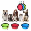 2018 Travel Collapsible Pet Dog Cat Feeding Bowl Water Dish Feeder Silicone Foldable 9 Colors To Choose