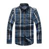POLO office shirt men printed shirt long sleeve plaid polo slim fit shirts stand collar mens fashion dress shirt men clothes 2018 D25