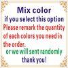 reamrk color in order