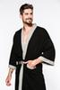 Men's Cotton Robe Lightweight Soft Bathrobes Waffle Style with Pockets for Steaming Sauna Bath Towel Spa Hotel Home Use