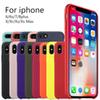 Official Silicone Cases For iPhone 7Plus 6 6S 7 8 Plus With Logo Silicone Cover For iPhone 10 X XR XS Max Business Coque Fundas