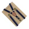 3 Clip Genuine Leather Women's Suspenders Fashion Warm Style Elastic Adjustable Braces bronze buckle