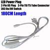 180 centímetros de cabos de alimentação dos EUA com interruptor