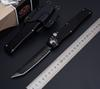 "HOT! 7Styles Custom MicRo Halo V 5 Tanto Tech Knife (4.6"" Satin) 150-4 Double Action Automatic Tactical knife With Kydex Sheath"