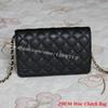9 Colors High Quality 20CM Black Caviar Woc Clutch 33814 Women Brand Small Shoulder Bag Genuine Leather Flap Crossbody Bags Good Price