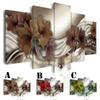 No Frame Wall Picture Printed Canvas Painting Spray Painting Home Decor Extra Mirror Border Abstract Brown Red Green Lily
