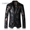 Men's black suit High quality fabric pattern embossing process For singers Designer suits for mens suit stores