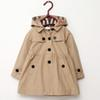 Hot 2018 children's clothing girl spring and autumn princess coat solid color medium-long single breasted trench babys outerwear