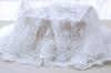 White Net Bouble Size Symmetrical Positioning Embroidery Lace Fabric Fabrics of DIY webbing Cloth Materials