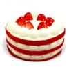 2019 Spot Red Scented Soft Strawberry Cake Pie Squeeze Slow Rebound Kids Cartoon Toy Decompression Toy