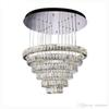 "Luxury Contemporary Crystal Pendant Lights K9 Crystal Chandeliers Lighting With 6 8 Crystal Circulars D23.6""*H74.6"""