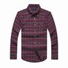 Mens plaid cotton long sleeve dress shirt stripe luxury brand designer polo men slim fit horse embroidery fashion vintage clothing