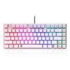 Z-88 Small Mechanical Keyboard RGB Backlit 81 Keys Compact Size Red Switches Gaming Mechanical Keyboard