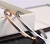 new DW Bracelets Cuff Rose Gold Silver Bangle 100% stainless steel Bracelet Women and Men Bracelet pulsera Epacket Free