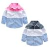Toddler Baby Boys Fashion Girls Splice Cotton T Shirt Long Sleeve Gentleman Patchwork Tops Blouse Clothes 2018