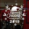 New Year Merry Christmas Wall Sticker Home Shop Windows Decals papel mural adhesivo kids room kitchen toilet Decor 2019