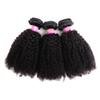 Indian Afro Kinky Curly Hair Weave 4 Bundles Natural Color 100% Human Hair Extensions 4B 4C Affro Curly Hair