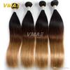 8A Brazilian Virgins Hair Ombre T1B 4 27 Straight Weave 3 Pcs Ombre Human Hair 100G Brazilian Straight Ombre Hair Extensions