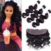 Brazilian Body Wave 13x4 Lace Frontal With Human Hair Bundles,Unprocessed Straight Virgin Human Hair 2 3 Bundles With Lace Frontal Closure