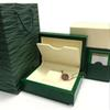 New Super Watch box Green box Papers Mens Gift Watches Boxes Leather bag Card 0.8KG For Rolex Watch Box With Bag