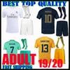 adult kit 19 20 real madrid SOCCER jerseys 2019 2020 hazard camisetas BENZEMA bale third Jovic home away men set goalkeeper football shirts