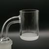 Top quality Opaque Bottom Gavel Flat Top Quartz Banger dab Nail 10mm 14mm 18mm Male Female 45 90 Degree Honey Bucket for bong
